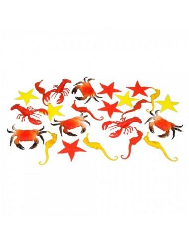 Imitación pack de peces marinos para pescaderías y la decoración de escaparates de tiendas o comercios