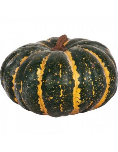 Imitación calabaza americana verde para fruterías y la decoración de escaparates de tiendas o comercios
