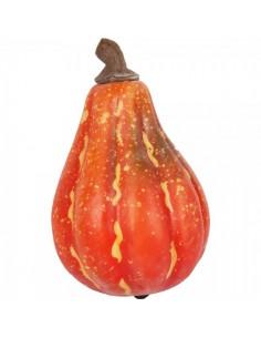 Imitación calabaza alargada roja para fruterías y la decoración de escaparates de tiendas o comercios