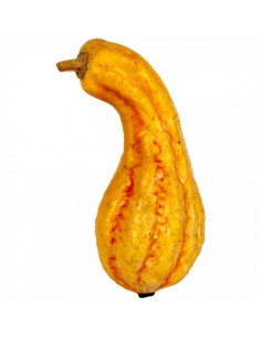 Imitación calabaza alargada amarilla para fruterías y la decoración de escaparates de tiendas o comercios