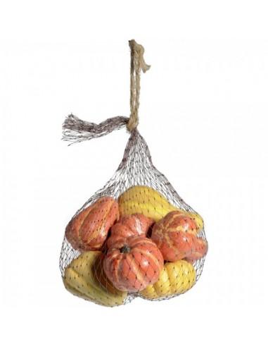 Imitación calabazas variadas para fruterías y la decoración de escaparates de tiendas o comercios