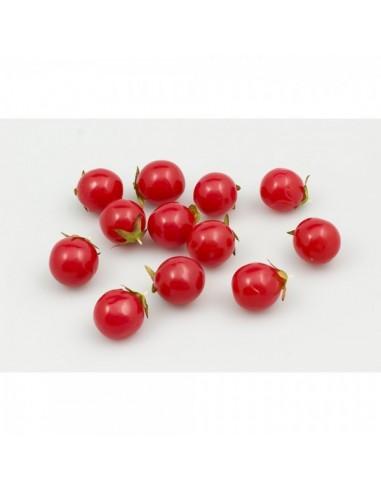 Imitación tomates cherry para fruterías y la decoración de escaparates de tiendas o comercios