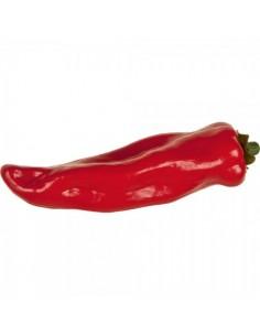 Imitación pimiento alargado rojo para fruterías y la decoración de escaparates de tiendas o comercios