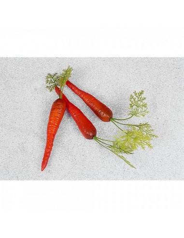 Imitación zanahoria con tallo para fruterías y la decoración de escaparates de tiendas o comercios