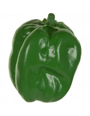 Imitación pimiento verde para fruterías y la decoración de escaparates de tiendas o comercios