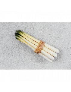 Imitación manojo de espárragos blancos-verdes para fruterías y la decoración de escaparates de tiendas o comercios