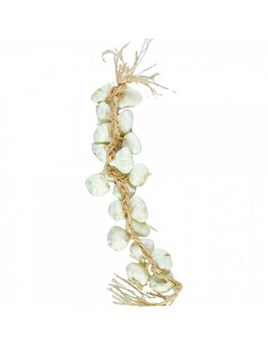 Imitación guirnalda de ajos para fruterías y la decoración de escaparates de tiendas o comercios