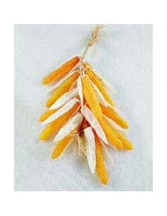 Imitación guirnalda de mazorcas de maíz para fruterías y la decoración de escaparates de tiendas o comercios