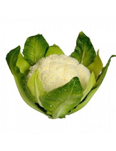 Imitación coliflor natural para fruterías y la decoración de escaparates de tiendas o comercios