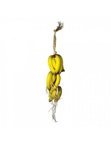 Imitación guirnalda de bananas para fruterías y la decoración de escaparates de tiendas o comercios