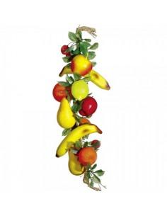 Imitación guirnalda de frutas para fruterías y la decoración de escaparates de tiendas o comercios