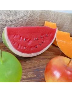 Imitación rodaja de sandia para fruterías y la decoración de escaparates de tiendas o comercios