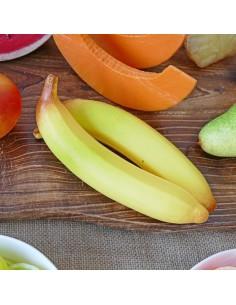 Imitación plátano amarillo para fruterías y la decoración de escaparates de tiendas o comercios