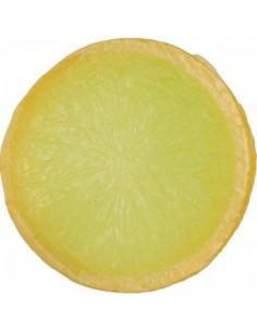 Imitación rodaja de limón amarilla para fruterías y la decoración de escaparates de tiendas o comercios