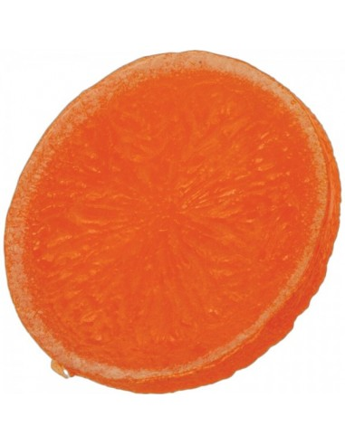 Imitación rodaja de naranja para fruterías y la decoración de escaparates de tiendas o comercios