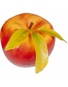 Imitación manzana grande con hojas para fruterías y la decoración de escaparates de tiendas o comercios