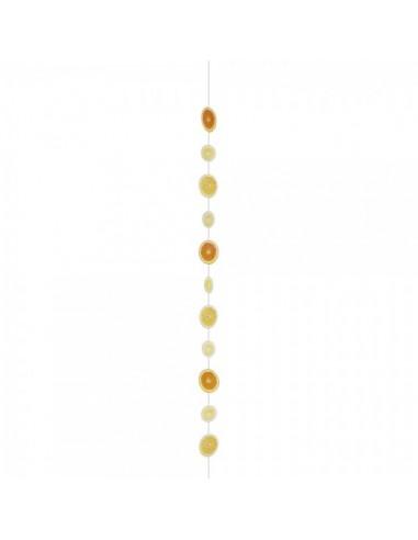 Imitación guirnalda de rodajas de cítricos para fruterías y la decoración de escaparates de tiendas o comercios
