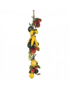 Imitación guirnalda de frutas variadas para fruterías y la decoración de escaparates de tiendas o comercios