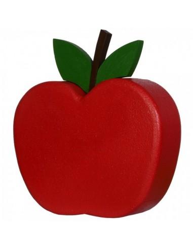 Imitación decoración manzana roja xl para fruterías y la decoración de escaparates de tiendas o comercios