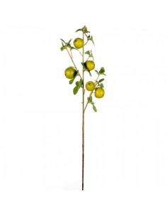 Imitación decoración rama con manzanas verdes para fruterías y la decoración de escaparates de tiendas o comercios