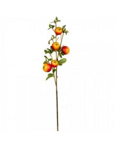 Imitación rama con manzanas rojas amarillas para fruterías y la decoración de escaparates de tiendas o comercios