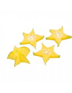 Imitación fruta carambola cortada estrella para fruterías y la decoración de escaparates de tiendas o comercios