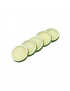 Imitación rodajas de limón para fruterías y la decoración de escaparates de tiendas o comercios
