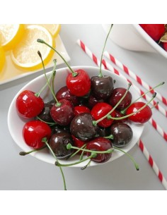 Imitación cerezas para fruterías y la decoración de escaparates de tiendas o comercios