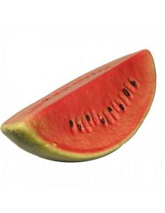 Imitación sandía cortada para fruterías y la decoración de escaparates de tiendas o comercios