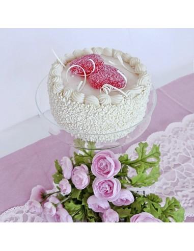 Imitación pastel de crema con corazones para panaderías pastelerías y escaparates de tiendas