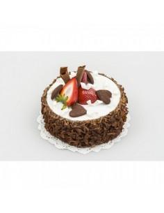Imitación pastel chocolate fresas y corazones para panaderías pastelerías y escaparates de tiendas