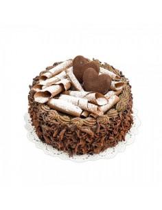 Imitación pastel de chocolate con corazones para panaderías pastelerías y escaparates de tiendas