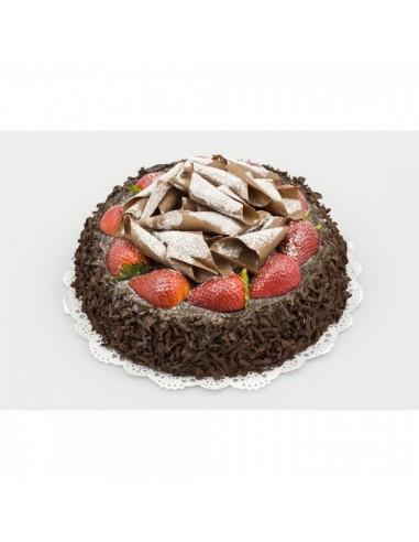 Imitación pastel de chocolate con fresas para panaderías pastelerías y escaparates de tiendas