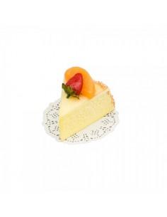 Imitación réplica trozo tarta queso fresa albaricoque para panaderías pastelerías y escaparates de tiendas