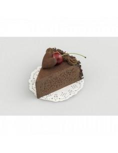 Imitación trozo tarta chocolate y cereza para panaderías pastelerías y escaparates de tiendas