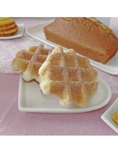 Imitación gofras de azúcar para panaderías pastelerías y escaparates de tiendas