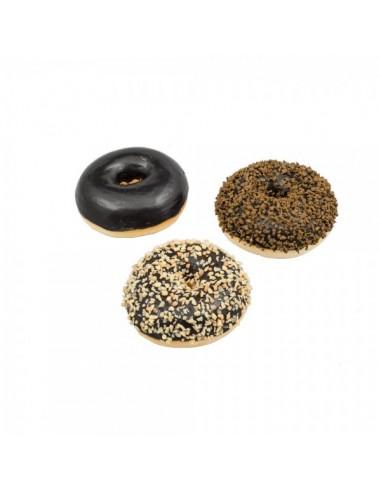 Imitación donuts de chocolate para panaderías pastelerías y escaparates de tiendas