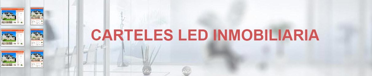 marco led inmobiliaria expositores led carpetas led
